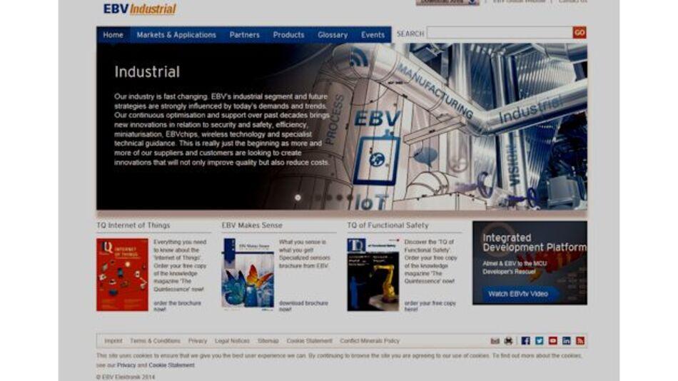 EBV bringt neue Website für den Bereich Industrieelektronik