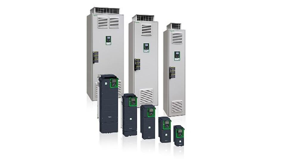 In verschiedenen Größen und Leistungsklassen erhältlich sind die Frequenzumrichter der Serie »Altivar Prozess« von Schneider Electric.
