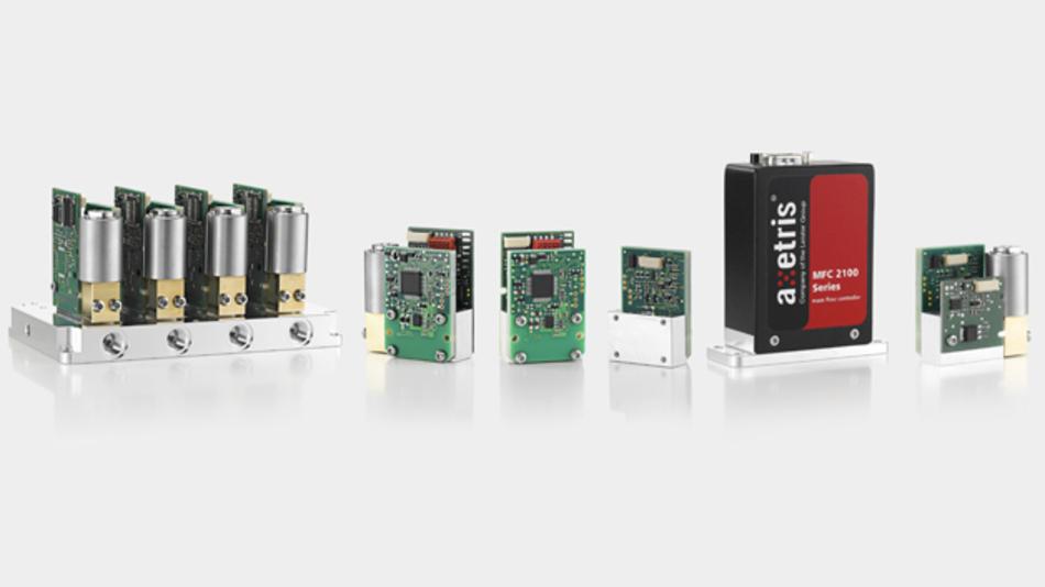 Axetris bietet Massenfluss-Meter- und -Regler-Module, komplette Geräte sowie mehrkanalige Gasmischer und -verteiler an. Dank des modularen Aufbaus sind applikationsspezifische Varianten möglich.