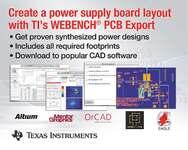 TIs Webench mit Feature »PCB Export«