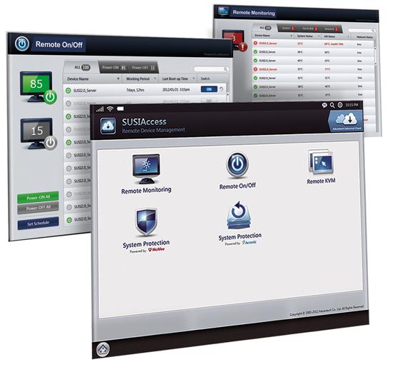 Bild 1: Über das »SUSIAccess«-Tool lässt sich die Embedded-Hardware per Fernzugriff steuern und überwachen