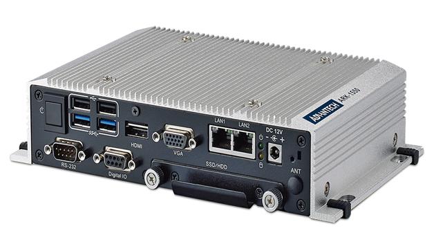 Bild 4: Drei Displays kann der Embedded-Box-PC »ARK-1550« über LVDS, VGA und HDMI unabhängig voneinander ansteuern