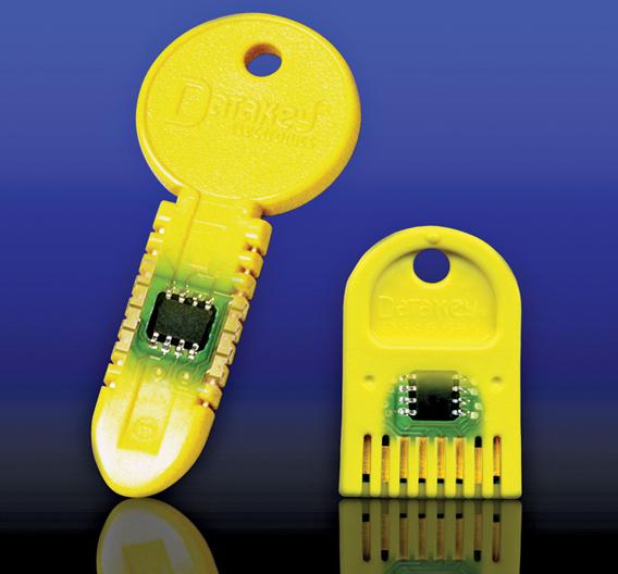 Bild 1: EEPROMs werden in die Schlüssel aus einem robusten Kunststoff eingegossen