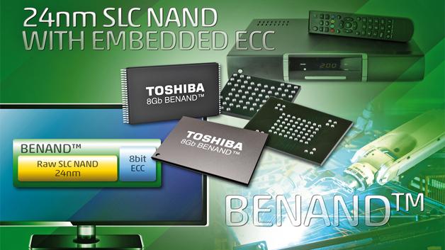 Bild 3: »BENAND« kommt ohne ECC (Fehlerkorrekturcode) im Host-Controller aus und ist doch zu allgemeinem SLC-NAND-Flash kompatibel