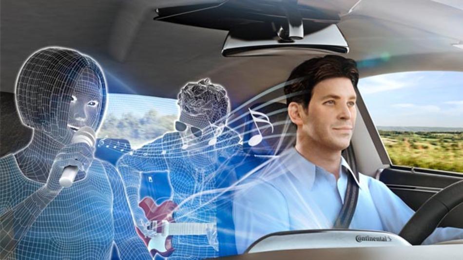 Mit 3D Sound von Continental und Auro Technologies erleben die Fahrzeuginsassen realitätsnahem Sound.