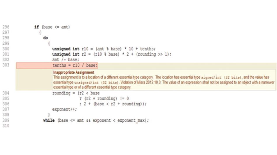 Bild 4: Beispiel eines Type-Mismatch