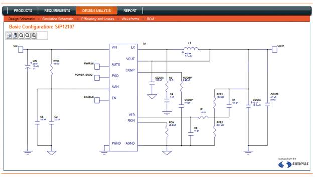Bild 2: Schaltplaneingabe am Online-Simulationswerkzeug »PowerCAD«
