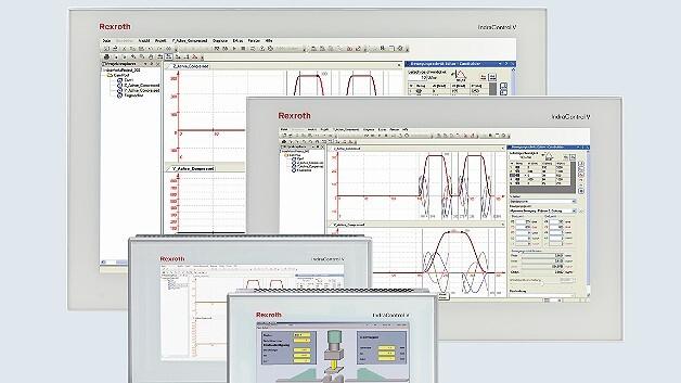 In verschiedenen Größen und Bauformen sind die HMI-Geräte der Serie »IndraControl V« von Bosch Rexroth erhältlich.