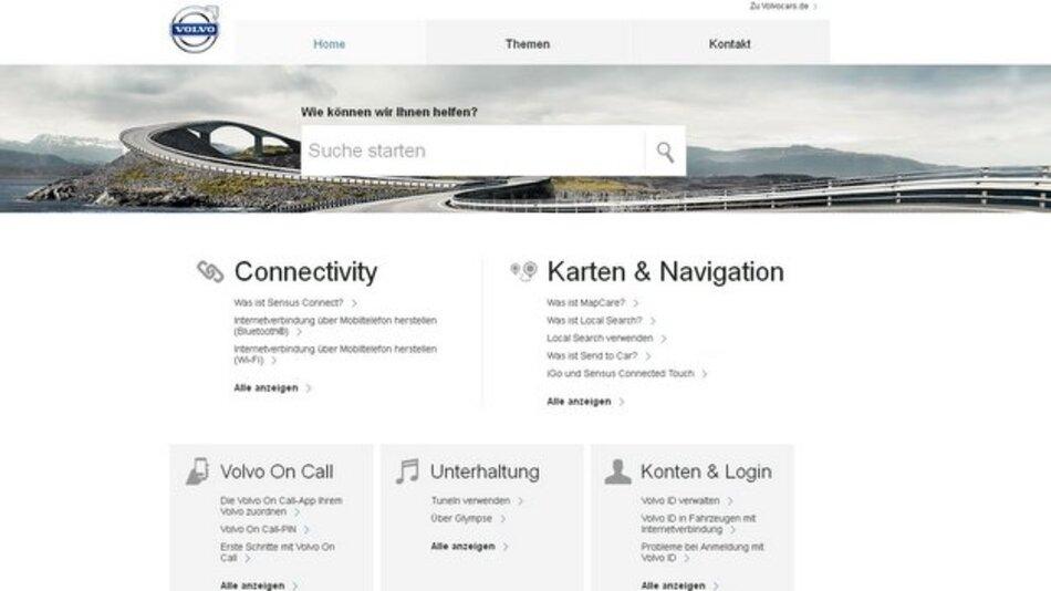 Wie bekommt man auch im Auto Zugang zum Internet? Eine neue Support-Seite von Volvo hilft weiter.
