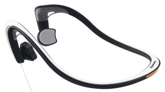 Der »Bone Conduction Kopfhörer RP-HGS10« von Panasonic nutzt Knochen zur Schallübertragung.