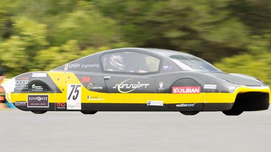 Das Rekord-Solarauto des australischen Sunswift Solar Racing Teams