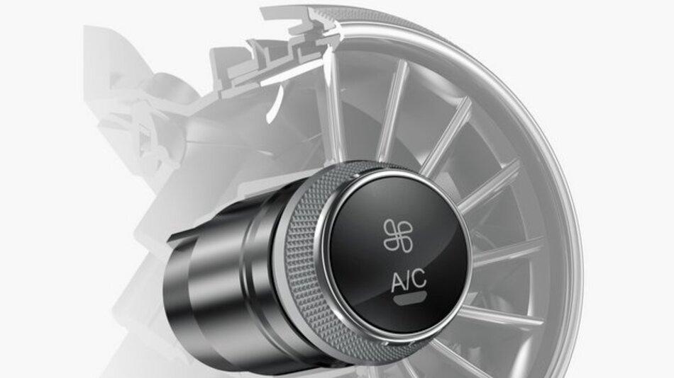 Luftausströmer mit integrierten Bedienelementen beim Audi TT.
