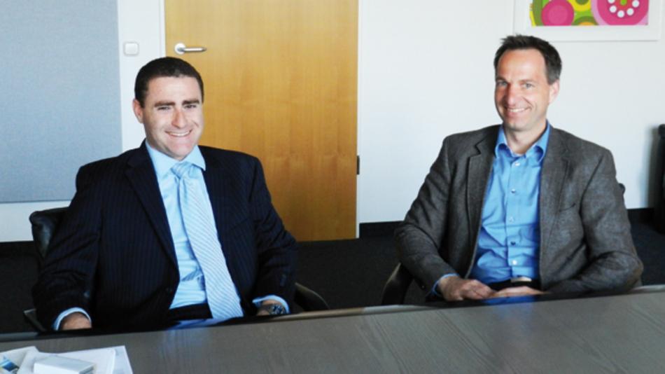 Daniel Adler Valens (links) und Guido Brüning beim Gespräch mit der Markt&Technik-Redaktion in den Räumen der WEKA FACHMEDIEN.