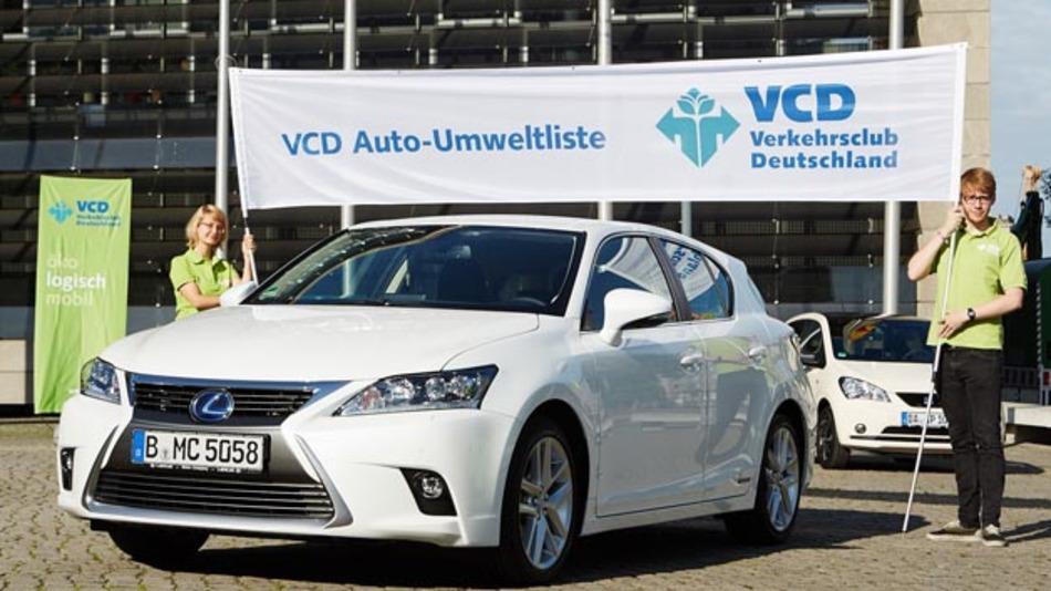 Der Lexus CT 200h ist das umweltfreundlichstes Fahrzeug, wenn es nach dem Verkehrsclub VCD geht.