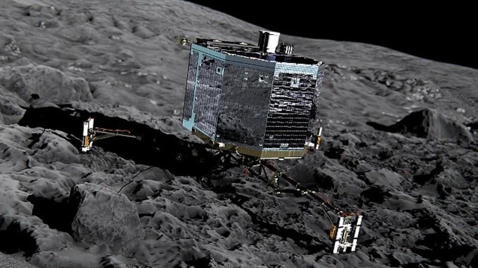 Der Lander Philae soll im November auf dem Kometen 67P aufsetzen.