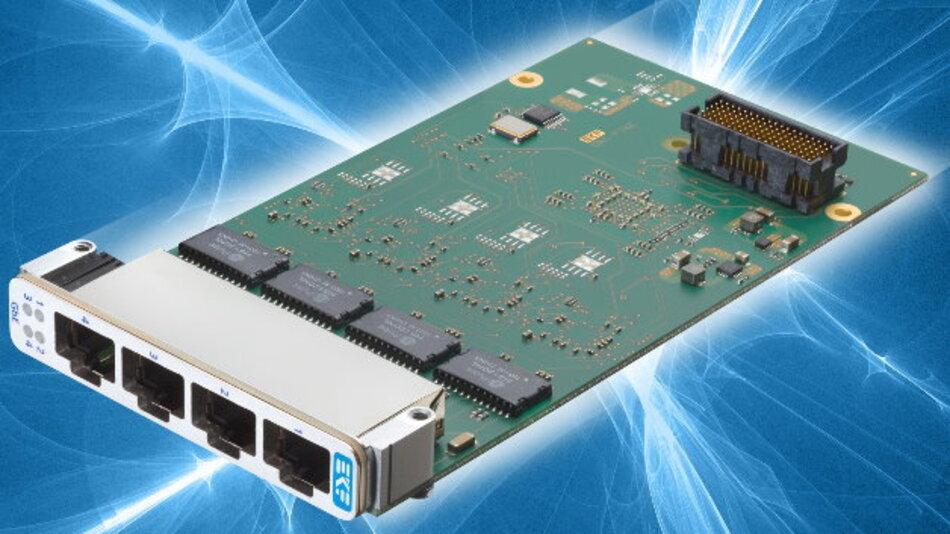Die XMC-Baugruppe »DN1-Pike« von EKF verfügt über vier unabhängige Gigabit-Ethernet-Controller.