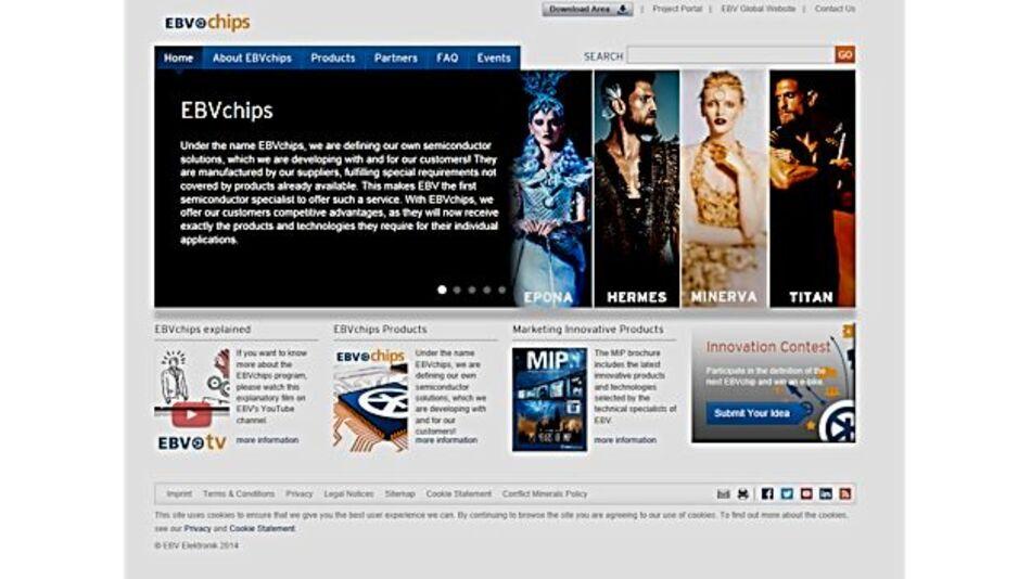 EBVs Website für sein EBVchips-Programm