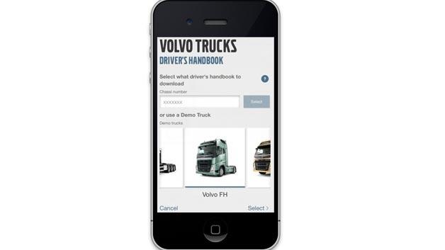 Fahrerhandbuch-App von Volvo Trucks.