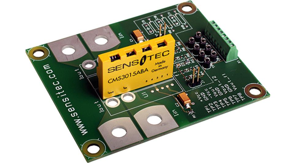 Die Closed-Loop-Baureihe »CMS3000« von Sensitec misst mit einer Bandbreite von 2 MHz (–3 dB) und einer Reaktionszeit von ca. 40 ns hochfrequente Ströme.