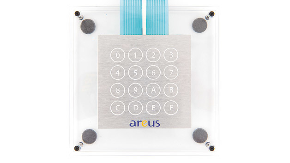 Ein sensorisches Tastenfeld von Areus gibt dem Anwender das Gefühl, einen klassischen Schalter zu betätigen.