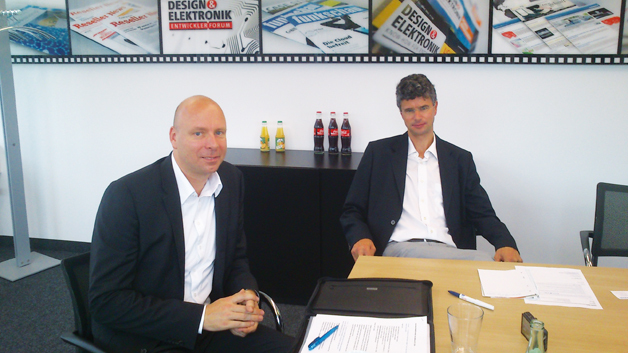Stefan Fuchs (rechts)  und Holger Ruban,  Conrad Business Supplies
