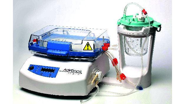 Hemosep, ein Gerät zur Blutrückgewinnung