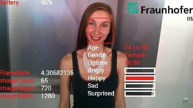 Alter, Geschlecht und Gemütszustand - all das zeigt die Google-Brille an.