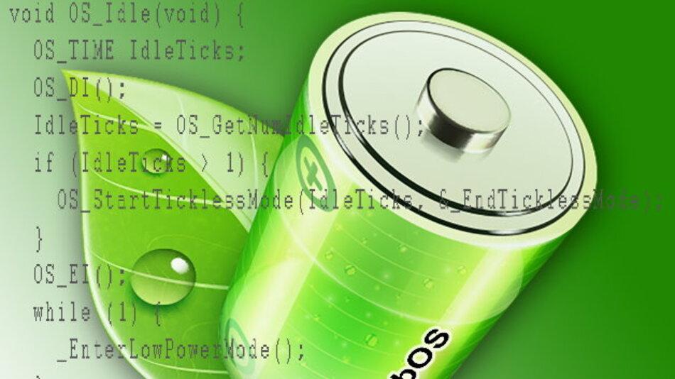 Der »Tickless«-Modus spart Strom durch Neuprogrammierung des Timers.