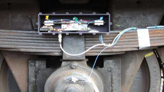 Feldtest eines energieautarken Sensors am Güterwagen