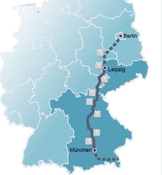 Mit dem Elektroauto unterwegs von Nord nach Süd – i ntercharge vernetzt die Schnellladestationen entlang der A9.