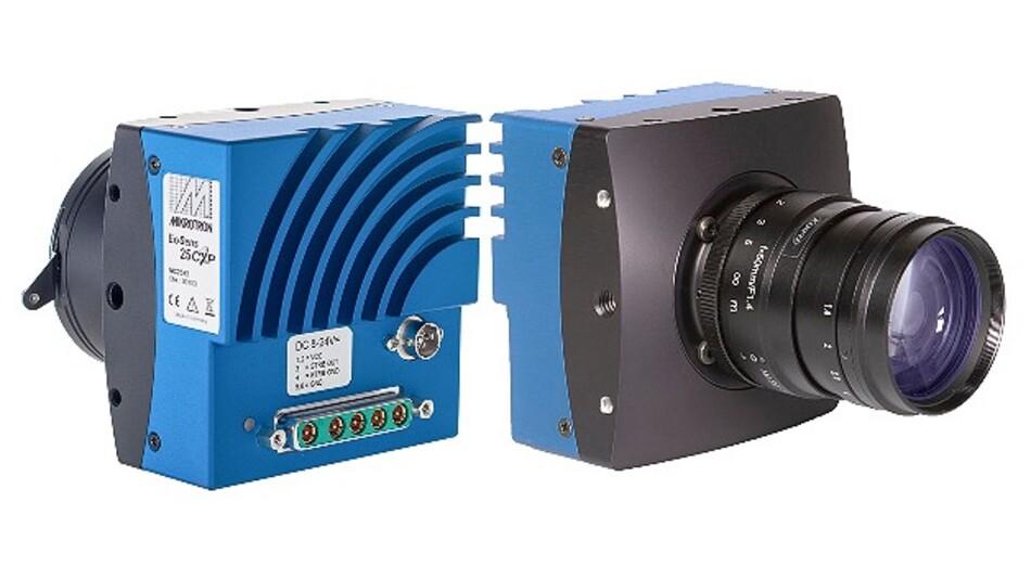 Eine besonders hohe Bildrate bei 25 MPixel Auflösung erreicht die High-Speed-Kamera »EoSens 25CXP« von Mikrotron.