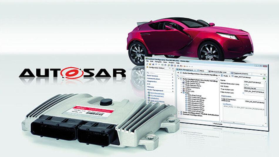 Ein typisches Steuergerät nutzt viele Funktionen der AUTOSAR-Basis-Software