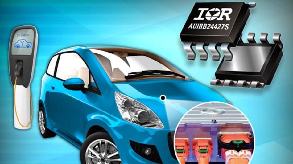 Der AUIRB24427S von International Rectifier für den Einsatz in Hybridfahrzeugen oder Elektroautos.