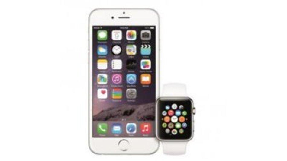 Zwei neue im Portfolio: das iPhone 6 zusammen mit der Apple Watch.