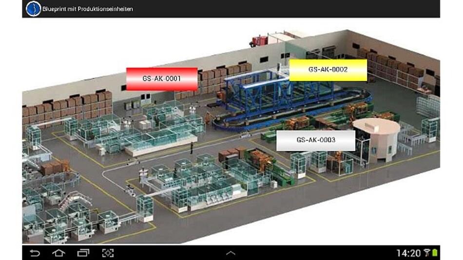 Mit der Business-App »Factory Monitor von Guardus Solutions lassen sich Produktionsabläufe mobil visualisieren und überwachen.