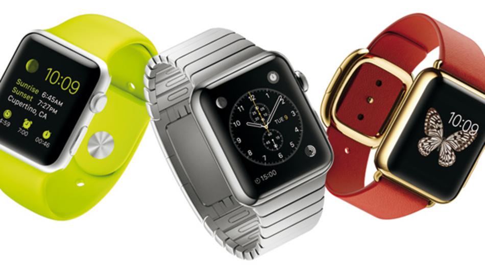 Eine für alle: Die Apple Watch wird es in drei verschiedenen Designvarianten und zwei Größen geben - aber erst ab 2015.