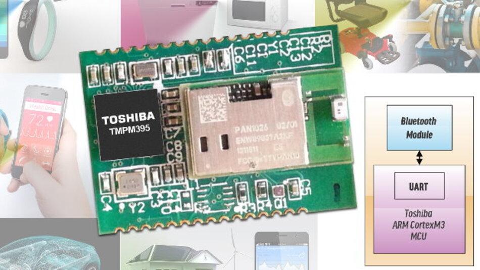 Toshibas sofort einsetzbares »Proof of Concept«-Embedded-Bluetooth-System für schnurlose Steuerungen.