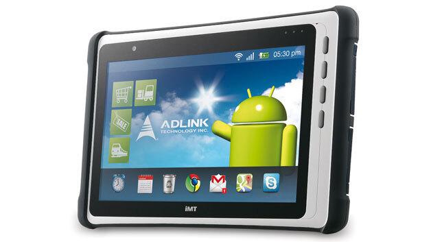 Das Industrie-Tablet IMT-1 hat ein 10-Zoll-Display.