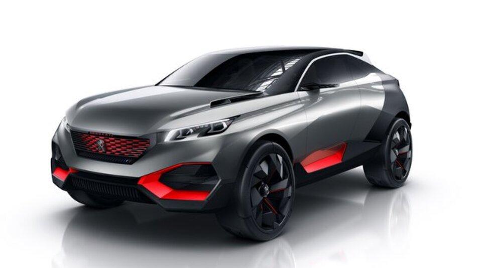 Die Crossover-Studie Peugeot Quartz ist auf dem Pariser Autosalon zu sehen (Publikumstage: 4. bis 19. Oktober).