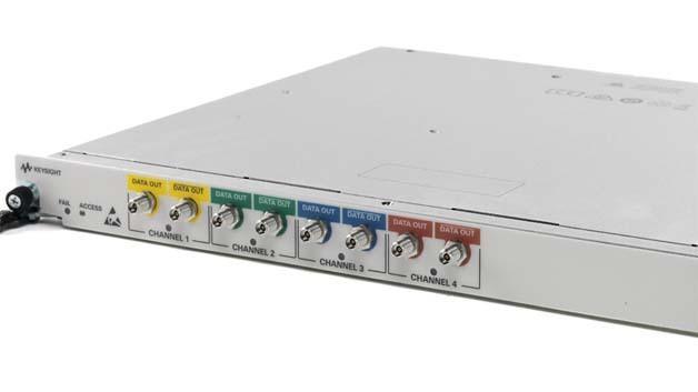 Mit einer beachtlichen Kombination aus Abtastrate, Bandbreite und Port-Dichte kann der neue Arbiträrgenerator M8195A aufwarten.
