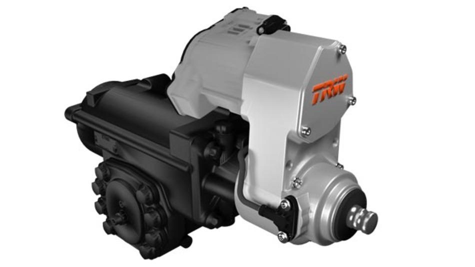 Das ReAX-Lenksystem kombiniert zwei bewährte TRW-Lenkungen – die hydraulische Servolenkung für Nutzfahrzeuge und die elektrisch unterstützte Lenkung mit Zahnstangenantrieb aus dem Pkw-Bereich.