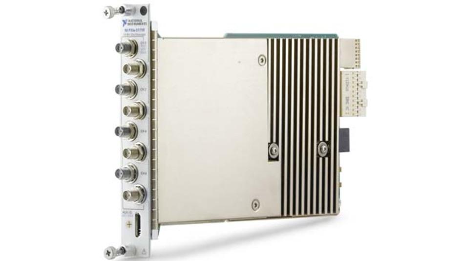 Das rekonfigurierbare Oszilloskop NI PXIe-5171R nutzt ein High-Speed-FPGA und kann mit seinen völlig frei definierbaren Triggervarianten im Zeit-, Frequenz- und Datenbereich punkten.