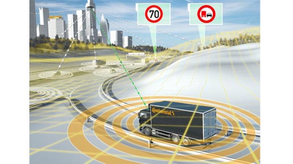 Automatisiertes Fahren maximiert Transporteffizienz von Nutzfahrzeugen.