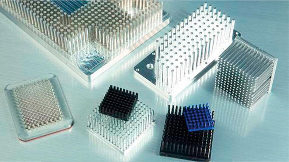 Stiftkühlkörper sind wirtschaftlicher, konstruktiver und thermischer gegenüber Strangpressprofilen.