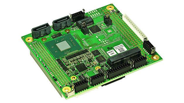 Bild 1. PC/104-Systeme sind Single-Board-Computer, die zur Erweiterung der Peripherie übereinander gestapelt werden können.