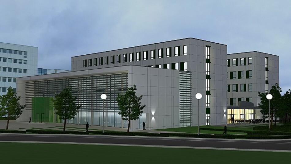 Aus zwei Bürotrakten und einem Verbindungsbau besteht die neue Zentrale von Wago am Stammsitz in Minden.