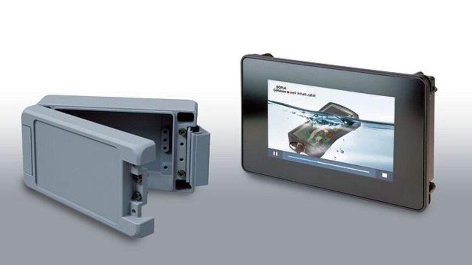 Schwerpunkt Bocube Aluminium und Touch-Integration