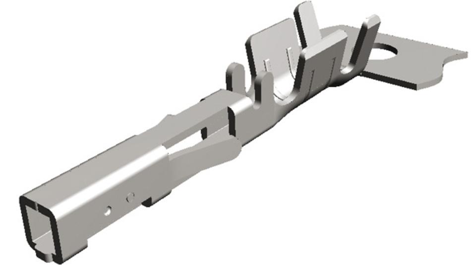 Bild 1a: Der Standard-Crimp-Kontakt  verfügt über eine starre Kontakthülse