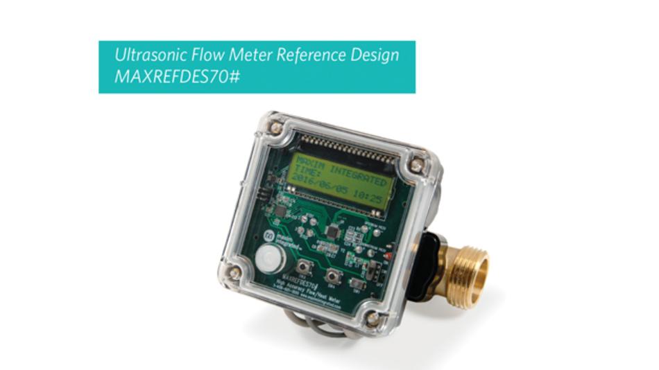 Der Ultraschalldurchflusszähler von Maxim ermöglicht genaue Messungen von Durchflussraten von nur 0,5l Wasser pro Minute.