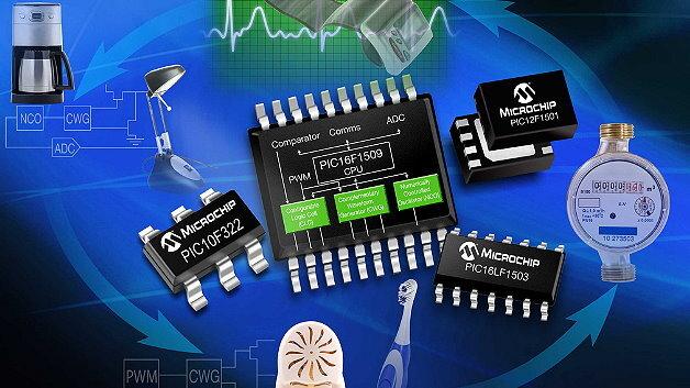Die PIC1XF150X MCUs von Microchip sind beispielsweise mit CLCs ausgestattet.
